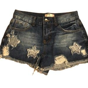 Altar'd State Distressed Jean shorts star 25